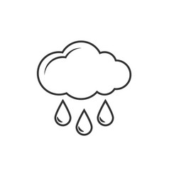 cloud with rain outline icon vector image