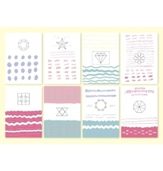 Collection of hand drawn party cards vector image