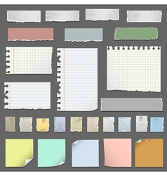 Collection of various notes paper vector image