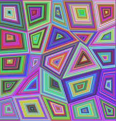 Colorful concentric rectangle mosaic background vector