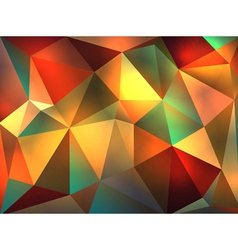 Colorful Stained Glass Abstract Triangles vector