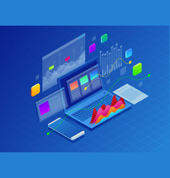 concept business strategy of data vector image