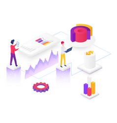 Content marketing isometric vector