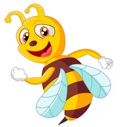 Cute bee posing vector