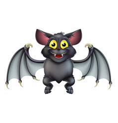 cute halloween bat cartoon vector image