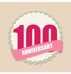 Cute Template 100 Years Anniversary Sign vector image