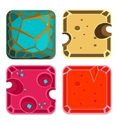 Different materials and textures for game square vector