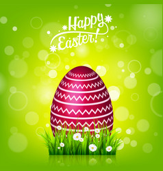Easter egg hunt green background april holidays vector
