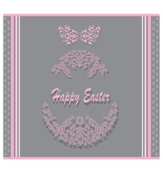 Easter postcard vector image