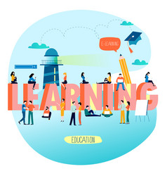 education training courses vector image