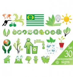 environmental signs vector image vector image