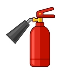 Fire Extinguisher Icon Flat Style vector image