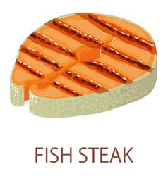 fish steak icon isometric style vector image