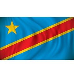 Flag democratic republic congo vector