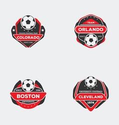 Flat football emblem vector