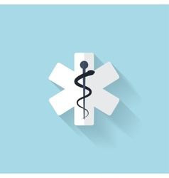 Flat web internet icon Ambulance symbol vector