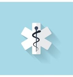 flat web internet icon ambulance symbol vector image