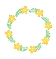 Floral frame for text summer frame vector image