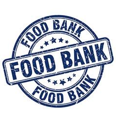 Food bank blue grunge round vintage rubber stamp vector