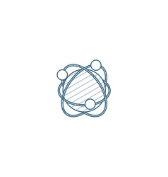 global communication network isometric icon 3d vector image
