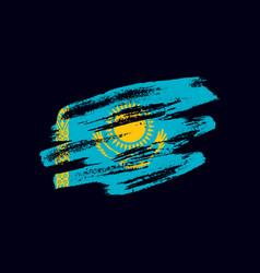 Grunge textured kazakh flag vector