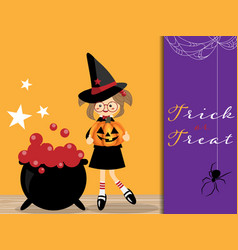 halloween background with trick or treat text vector image
