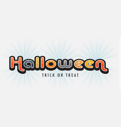halloween banner letters vector image