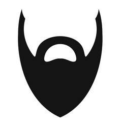 heavy beard icon simple style vector image