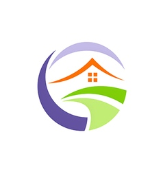 house environment villa realty logo vector image