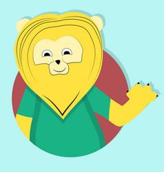 lion cartoon icon emblem vector image