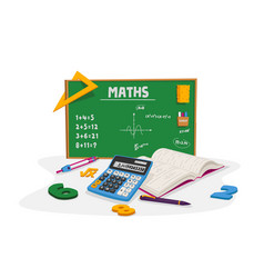mathematics education and school lesson concept vector image