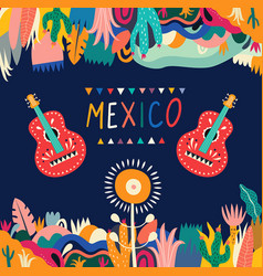 mexican guitars vector image