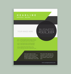 modern green black brochure template vector image