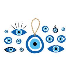 Nazar amulets evil eye protection talismans set vector