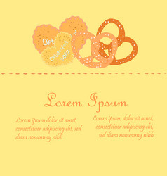 oktoberfest sweets on single piece flyer vector image