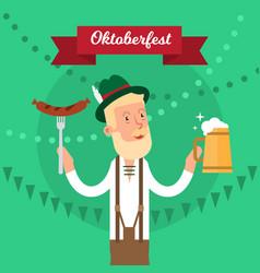 oktoberfest traditional festival poster vector image