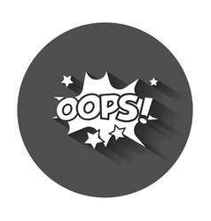 Oops comic sound effects sound bubble speech with vector