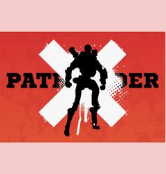Robot pathfindersilhouette vector