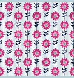 Seamless flower pattern in folk art style vector