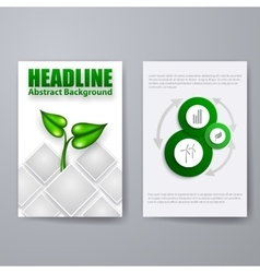 Set of Brochure Flyer Design vector image
