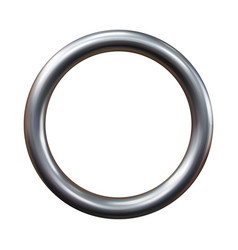Silver metal ring isolated on white background vector