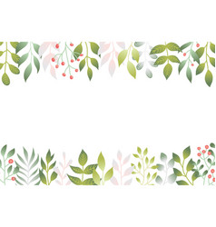 spring leaves in flat style vector image