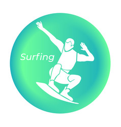 Surfing icon in vector