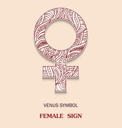 Symbol of venus is a female floor sign with a vector