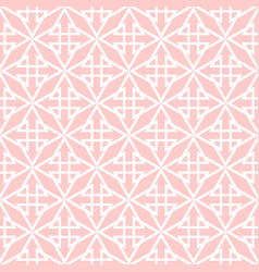 tile pink and white pattern vector image