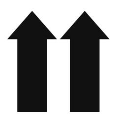 two arrows up icon vector image
