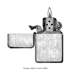 vintage lighter hand drawing clip art isolated on vector image
