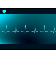 Abstract heart beats cardiogram vector image vector image