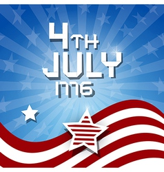 American Flag Background - 4th July 1776 heme vector image vector image