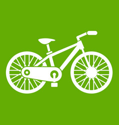 bicycle icon green vector image
